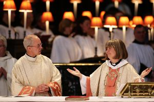 Anglican priests gather to worship