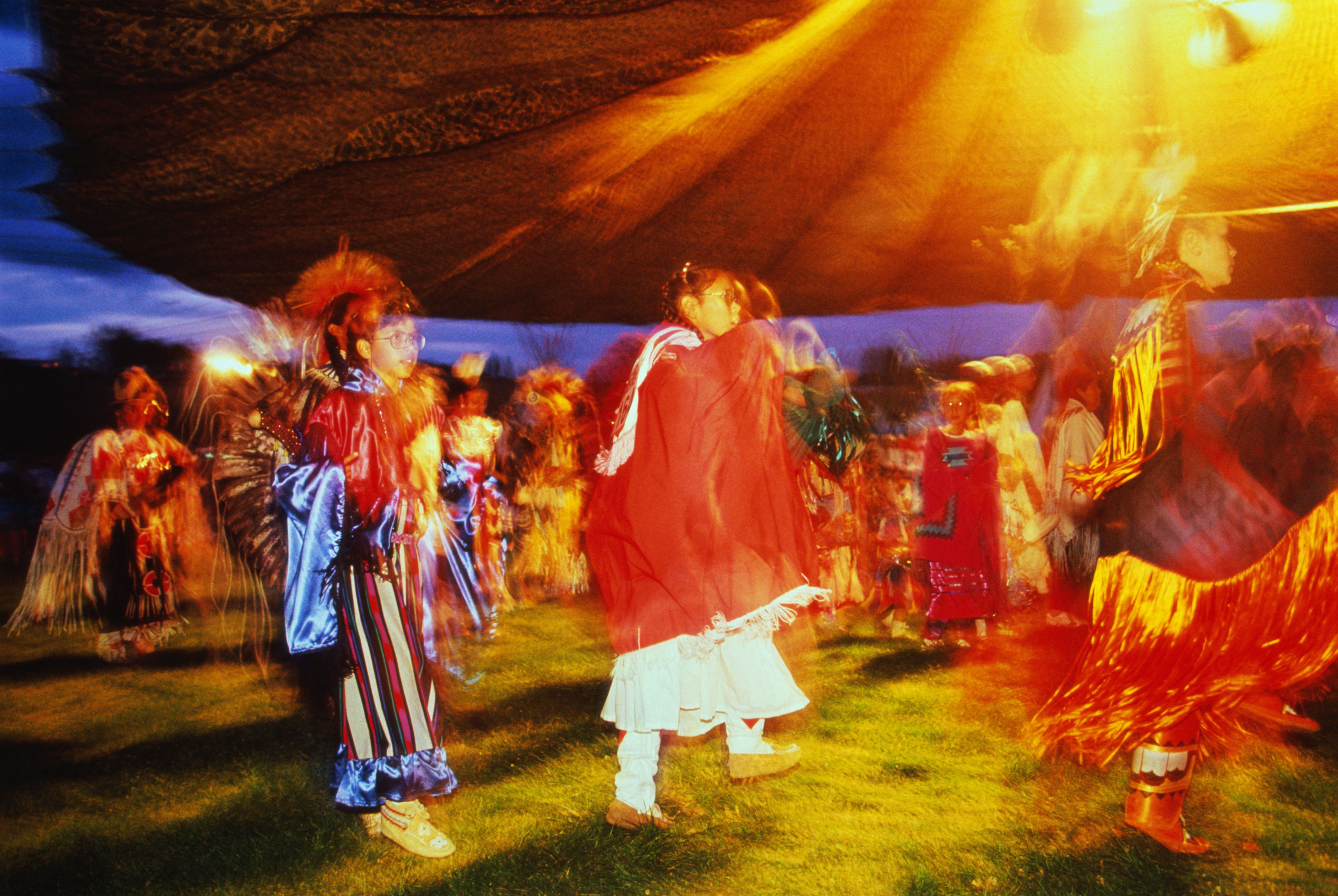 Native American pow wow at the Omak Rodeo,Washington,USA