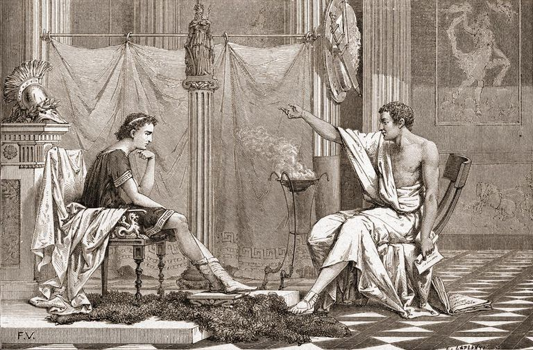 Aristotle Teaches Alexander The Great