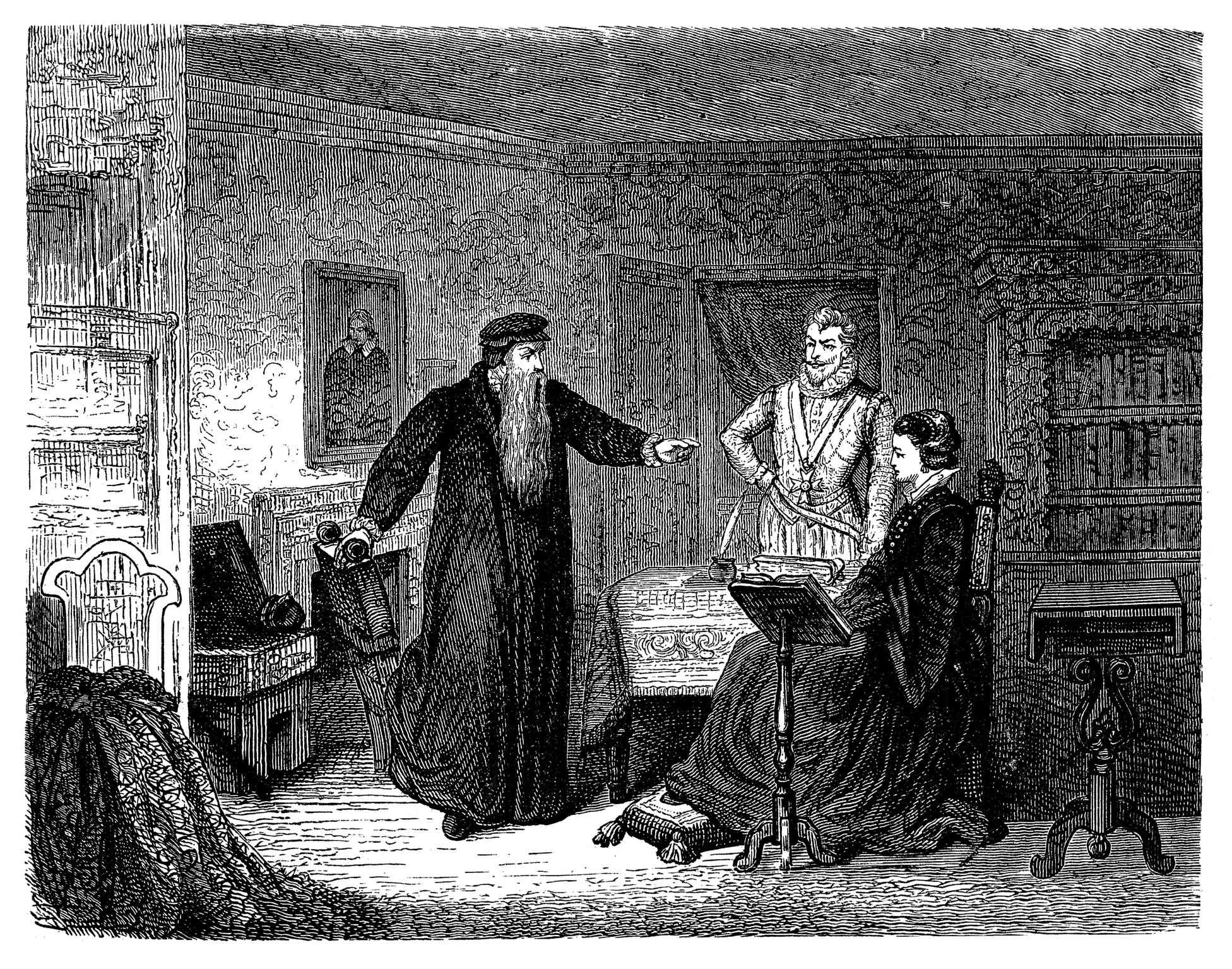 John Knox admonishes Mary, Queen of Scots