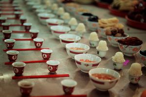 Offerings at a hungry ghost festival