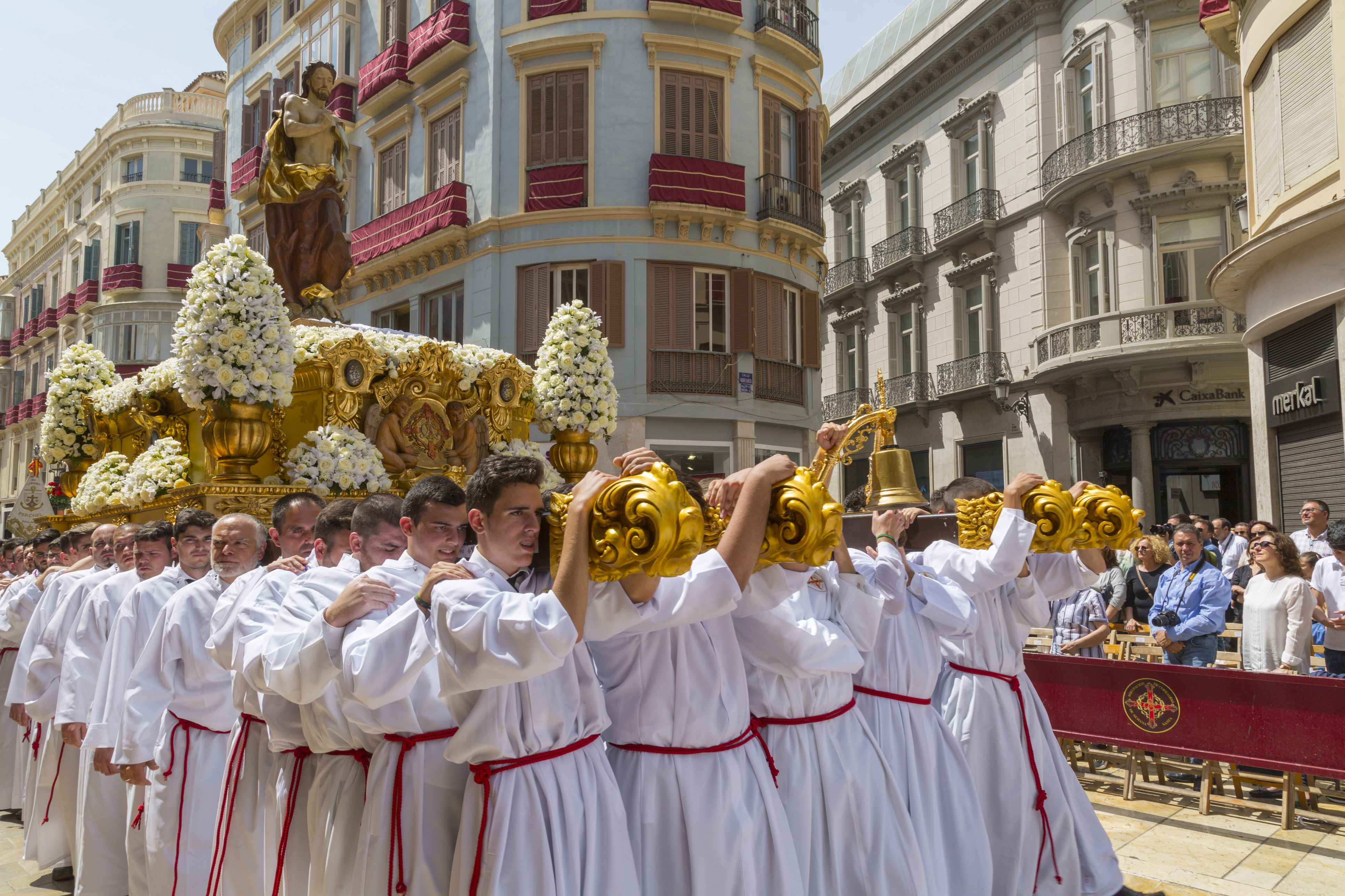 Locals taking part in the Resurrection Parade on Easter Sunday in Spain.