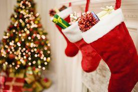 Christmas tree and stockings
