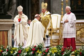 Pope Benedict XVI ordains a bishop