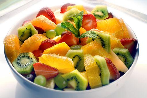Close up of fruit salad bowl