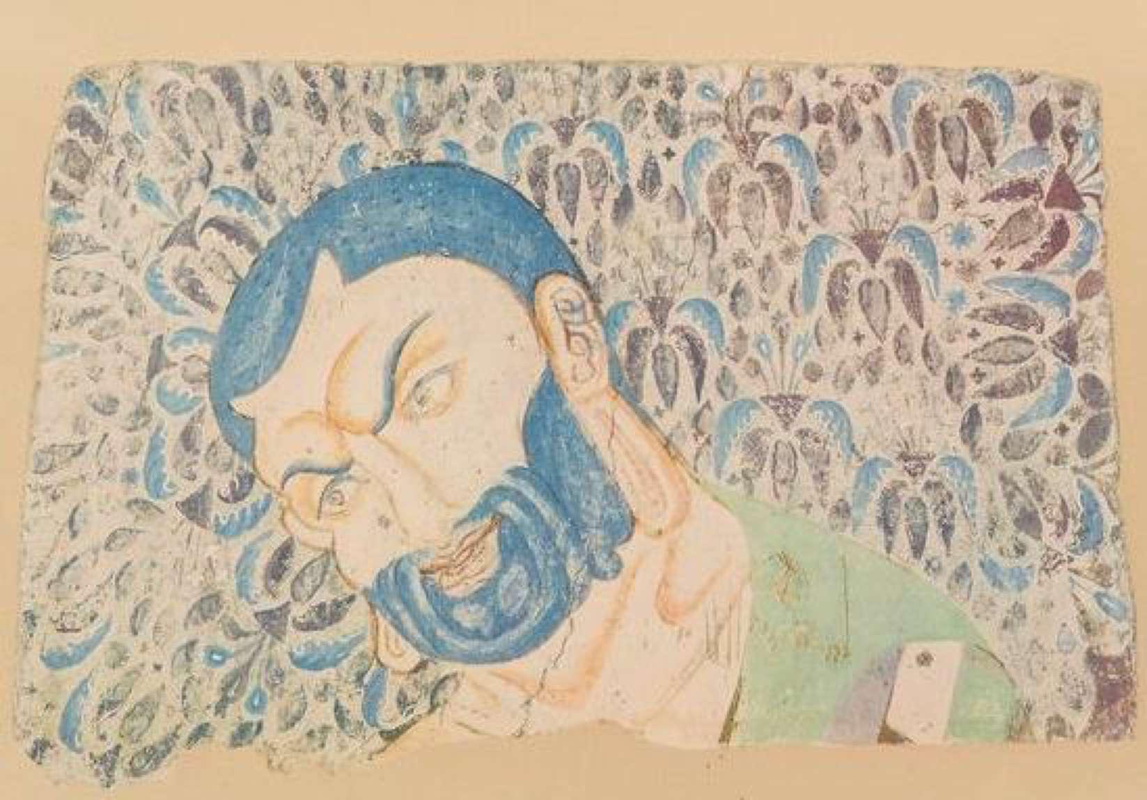 Painting of the head of Mahakasyapa.