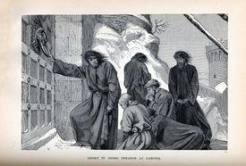 Henry IV at the gate of Canossa, by August von Heyden