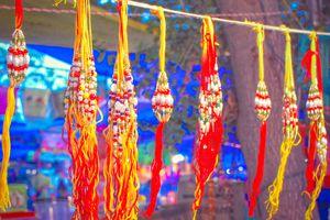 Indian Street Market On Raksha Bandhan