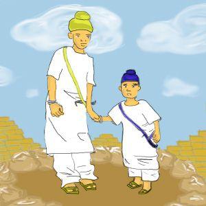 Artistic Impression of Guru Gobind Singh's Younger Sons
