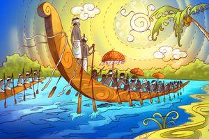 Illustration of boats the Onam Festival