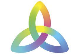 Trinity Knot or Triquetra Symbol