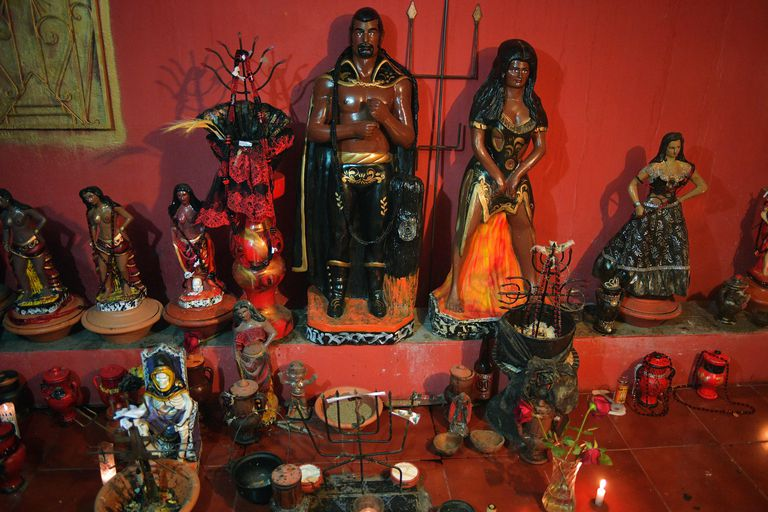 Altar to Exu and Pomba Gira