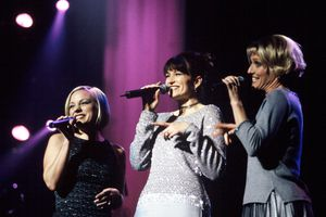 Point of Grace performs at the H.P. Pavilion on December 19, 1999 in San Jose California