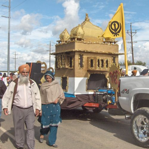 Yuba City Sikh Parade Golden Temple Float