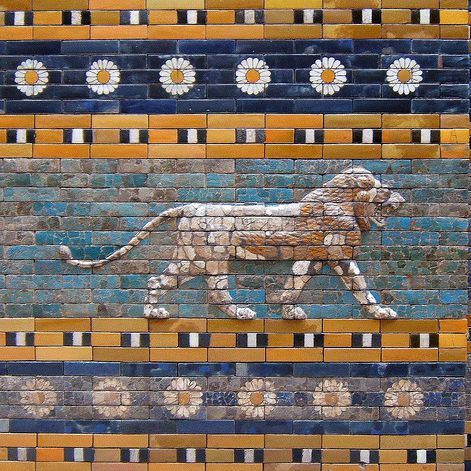Lion frieze, Ishtar Gate, Pergamon Museum, Berlin