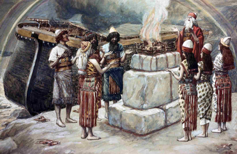Noah's Sacrifice, painting by James Tissot.