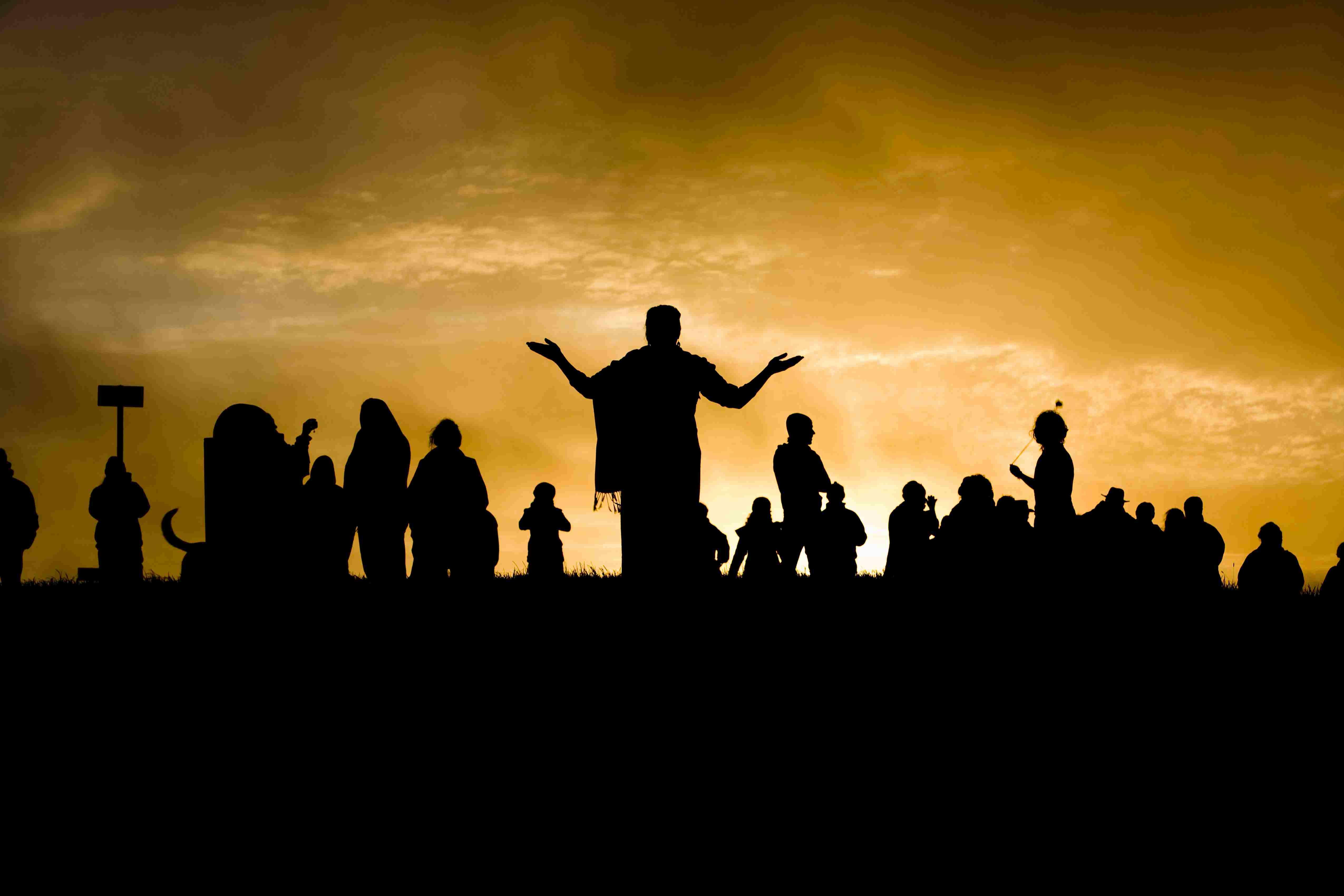 Sunrise ritual at Tara Hill