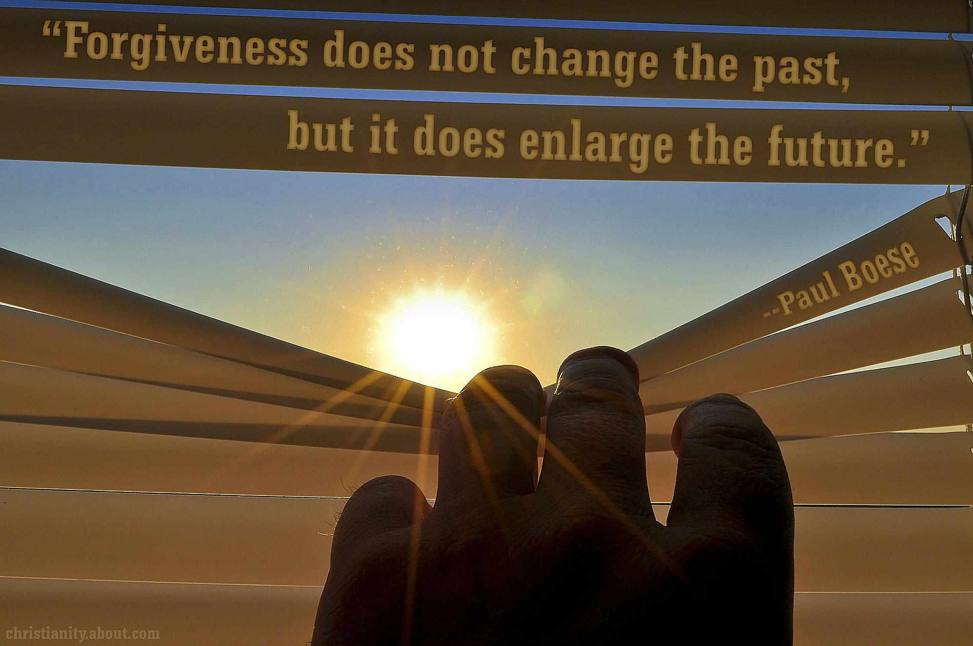 Forgiveness Enlarges Our Future